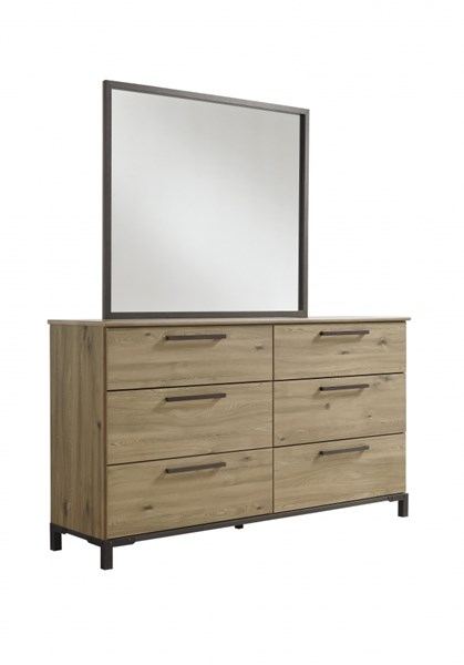 Dexifield Contemporary Beige Brown Wood Dresser B298-21